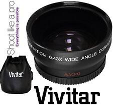 HD4 Optic Vivitar Wide Angle W/Macro Lens For Fujifilm Finepix HS30EXR HS33EXR
