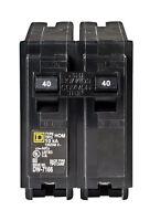 Square D  HomeLine  Double Pole  40 amps Circuit Breaker