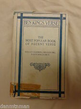 Ben King's Verse The Most Popular Book of Recent Verse (1898, Hardcover)