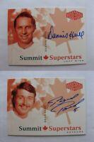 2004-05 UD Legendary Signatures #CDNDH Hull Dennis Autographs Summit stars auto