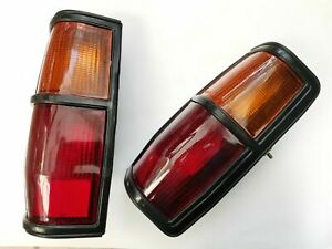 FITS DATSUN NISSAN 720 UTE MODEL 1984 85 PAIR TAIL LIGHTS LEFT RIGHT BLACK NEW