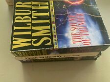 Lot of 3 Wilbur Smith The Sound of Thunder Eagle in the Sky River God