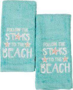 ATI 2-pc. Follow The Stars To The Beach Fingertip Towel Set 2 Pc Set