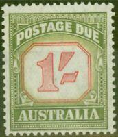 Australia 1954 1s Carmine & Dp Green SGD129a Fine Lightly Mtd Mint