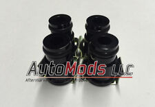 "Set of 4 1/2"" Fuel Injector Top Hat Extender Black 14mm 14 camaro mustang v8"