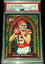 PATRICK MAHOMES II 2017 PANINI PRIZM STAINED GLASS GOLD MOJO RC SP #02/10 PSA 10