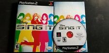 """DISNEY SING IT"" PlayStation 2/PS2 Game + Booklet + Case GAME ONLY"