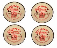 "4X CW ""SPL. COUNTY CROWN WHITE"" HIGH Quality 4 Piece Cricket Ball -156 g+A Grade"