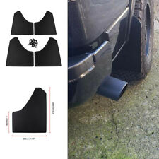 Plastic Mudflaps Front Rear Full Set Black Universal For Car Pickup SUV Truck