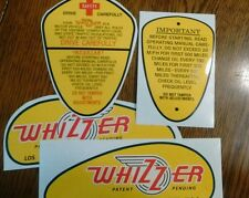 Whizzer decal set of 4 1940's and 1950's bicycle motorcycle vinyl exact