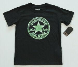 Neu All Star Converse Sport Freizeit T-Shirt Top Jungen Boys schwarz Gr.116-122