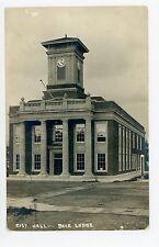 City Hall—Deer Lodge Mt Antique Rppc Photo ca. 1920s