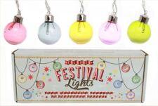 set of 10 colourful vintage retro style FESTIVAL decorative party fairy lights