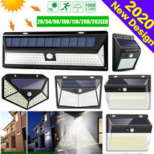 Outdoor Garden Solar PIR Motion Sensor Security Wall Light 30/54/100/206/208 LED