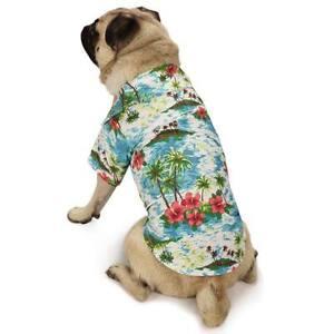Casual Canine Hawaiian Breeze Camp Dog Shirt Beach Palm Tree Island Size:XLARGE