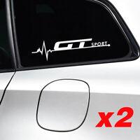 X2 Gt Sport Adesivi Emblema Bianco Finestrino Decal Alfa VW Tdi Golf Polo Passat