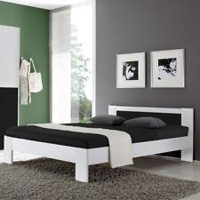 Bett Vega Futonbett in weiß und schwarz mit Rollrost und Matratze 140x200 cm