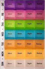 7 day pill box tablet holder medicine dispenser organiser tablets case