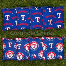Cornhole Bean Bags Set of 8 ACA Regulation Bags Texas Rangers Free Shipping