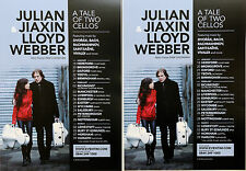 3 X JULIAN & JIAXIN LLOYD WEBBER TOUR FLYERS - A TALE OF TWO CELLOS