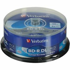 Verbatim Blu-Ray BD-R DL 98356 50GB 6X 25-Pack Spindle