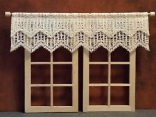 Dollhouse Miniature Curtains Beige Lace Valance 1:12 scale E20 Dollys Gallery