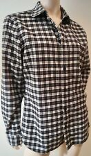 Burberry Brit Menswear Charcoal Grey & Cream Cotton Check Casual Shirt M