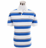 Tommy Hilfiger Men's Short Sleeve Custom Fit Stripe Polo Shirt - $0 Free Ship