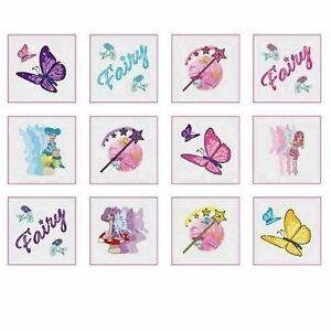 12 Fairy Princess Temporary Tattoos Kids Birthday, Christmas Party Bag Fillers