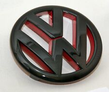 VW Golf 6 VI GTI r32 turbo logotipo caracteres emblema Black negro brillante rojo