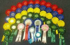 2 Tier Rosettes 10 x 1st-4th Complete Show in a Box Total 46 Rosettes