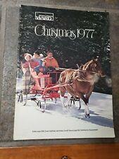 vintage Montgomery Ward Christmas catalog 1977