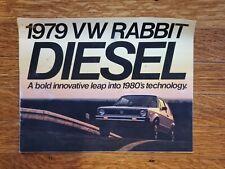 1979 Volkswagen VW Rabbit Diesel Sales Brochure Gas Crunch 80s vtg