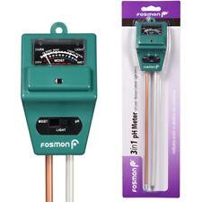 3 In 1 Soil Tester Meter for Garden Lawn Plant Pot MOISTURE LIGHT PH Sensor Tool