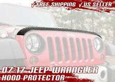 07-17 Jeep Wrangler JK Hood Guard Protector Cover Aeroskin Diamond Armor Black