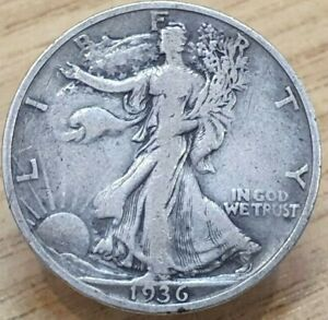 1936-S United States Walking Liberty Half Dollar Silver Coin
