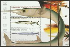 MICRONESIA - 2011 GAME FISH MINIATURES SHEETS MS 1656, 1657 & 1658 MNH