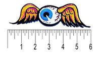 "Hot Rod Patch Flying Eyeball Badge Von Dutch 6"" Drag Race Motorcycle Iron On"