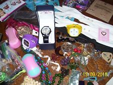 LOT - TREASURES, POLO WATCH, FLEX WATCHES, JEWELRY, CRAFTS, POCKET KNIVES, GLOVE