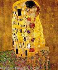 The Kiss by Gustav Klimt - Couple Lovers Golden Erotic Embrace 8x10 Print 0017