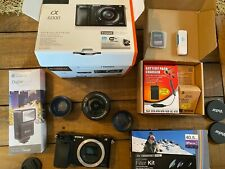 Sony Alpha A6000 Mirrorless Digital Camera Kit w/16-50mm lens & accessories