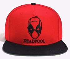 Marvel Comics Deadpool Sketch Face Snapback Ball Cap Hat New with Tags