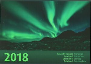 Greenland Official Year Set 2018 MNH Complete with all Stamps Blocks Bank Notes
