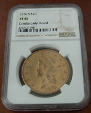 US 1876s Gold $20 Double Eagle NGC XF45 Liberty