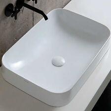 Lavabo ceramica Soft 60x40 cm Azzurra installazione da appoggio o semincasso