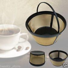 Neu Gold Ton Permanent Kaffeefilter Hersteller Korb Stil Sieb 8 bis 12 Tassen