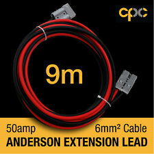 9m 50A AMP ANDERSON PLUG style Extension cable Battery 4x4 4WD CARAVAN SOLAR 12V