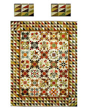 Miniature Dollhouse Heritage Sampler Quilt Top Computer Printed Fabric