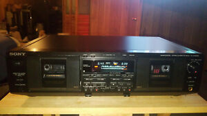 Sony TC-WE835S Cassette Deck With Dolby S Noise Reduction. {{{REFURBISHED}}}