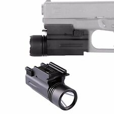 Tactical Flashlight Light w Strobe F Weaver Picatinny For Glock17 19 20 23 22 21